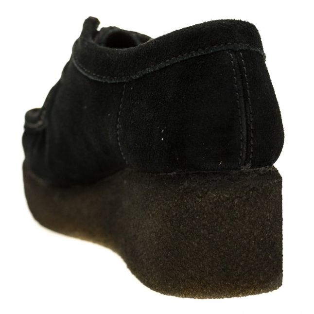Womens Black Suede Peggy Bee