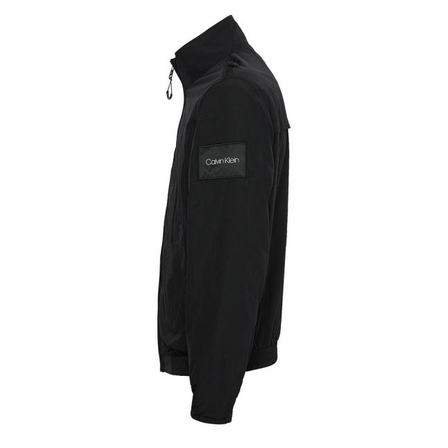 Mens Black Crinkle Nylon Jacket