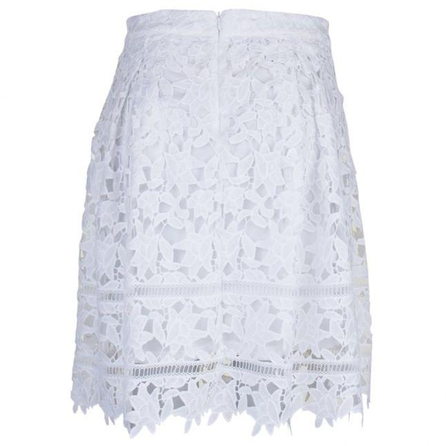 Womens Cloud Dancer Viclarna Lace Skirt