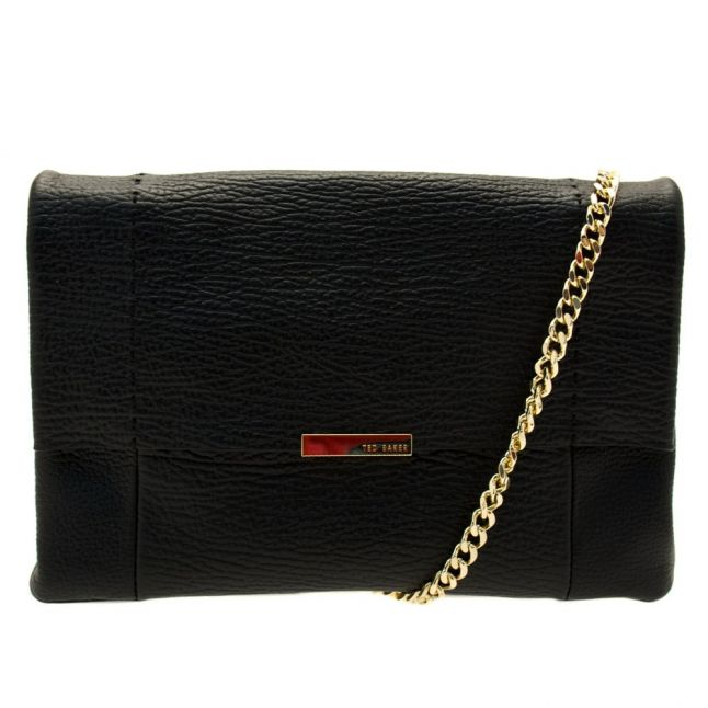 Womens Black Parson Unlined Soft Leather Cross Body Bag
