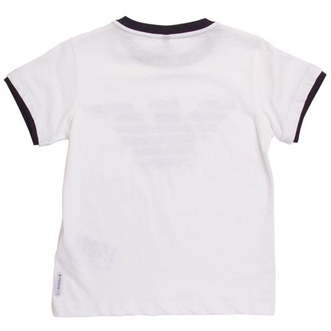 Boys White Eagle Logo S/s Tee Shirt