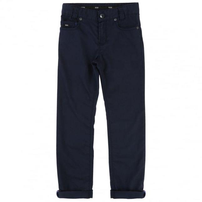 Boys Navy Chino Pants