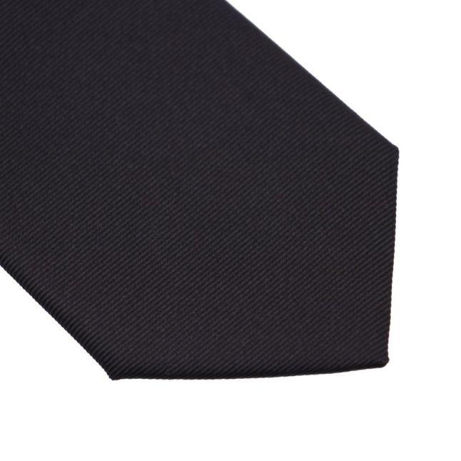 Mens Black Slim Tie