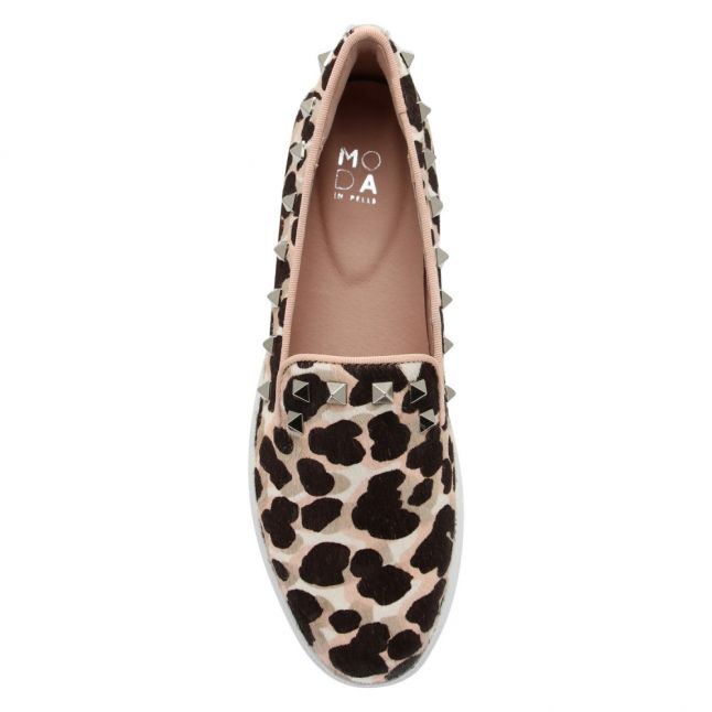Womens Nude Eimee Leopard Pumps