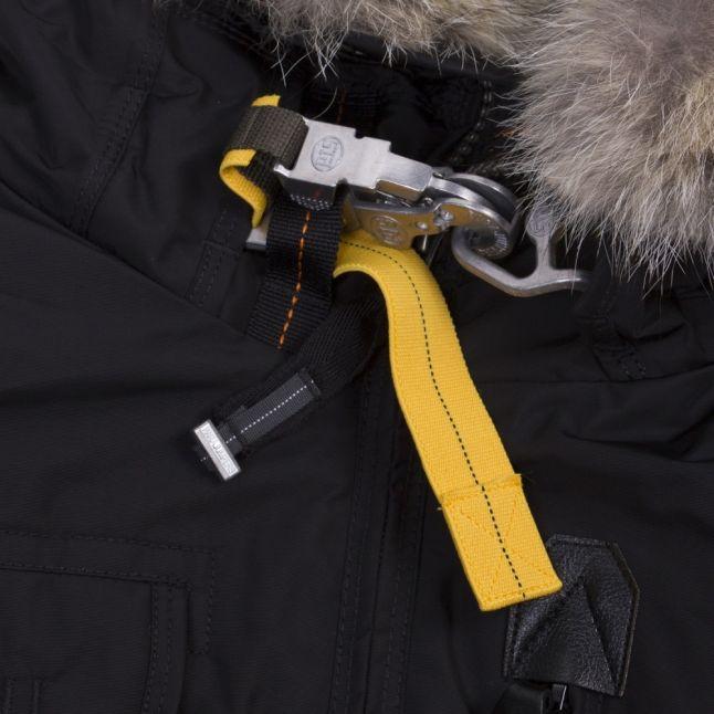 Mens Pencil Gobi Fur Hooded Bomber Jacket