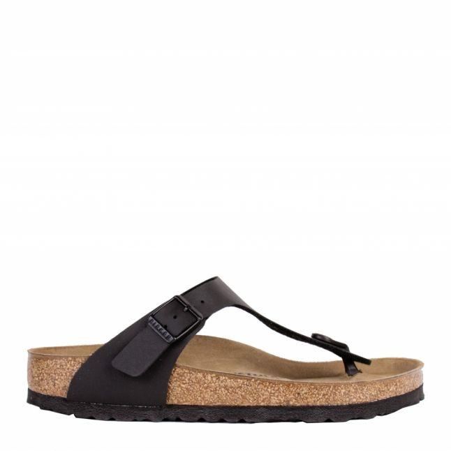 Womens Black Gizeh Birko-Flor Toe-Post Sandals