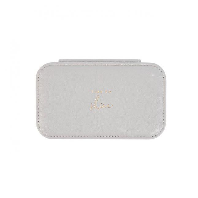 Womens Grey Shine Medium Jewellery Box
