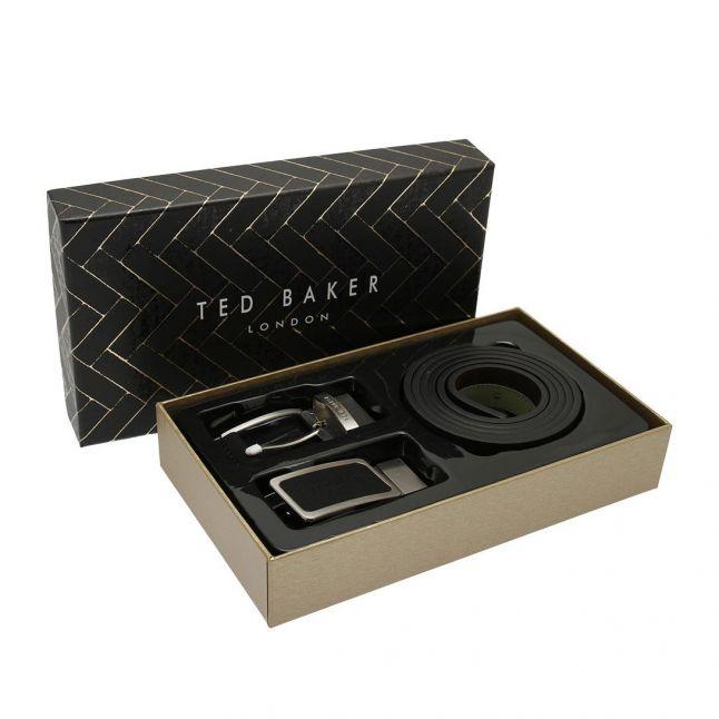 Mens Black Rate Casual Belt In A Box Set