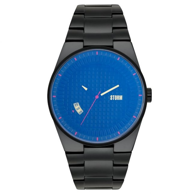 Mens Lazer Blue Dial Black Darko Watch