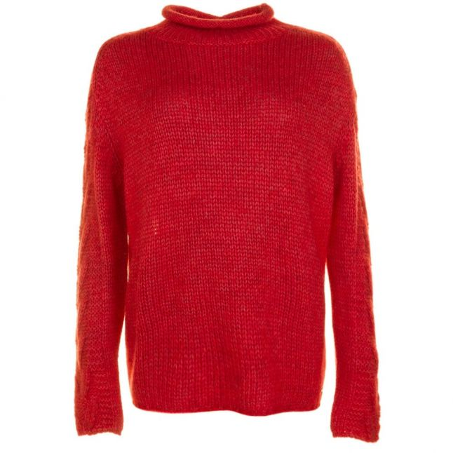 Lifestyle Womens Rich Coral Melilot Knitted Jumper