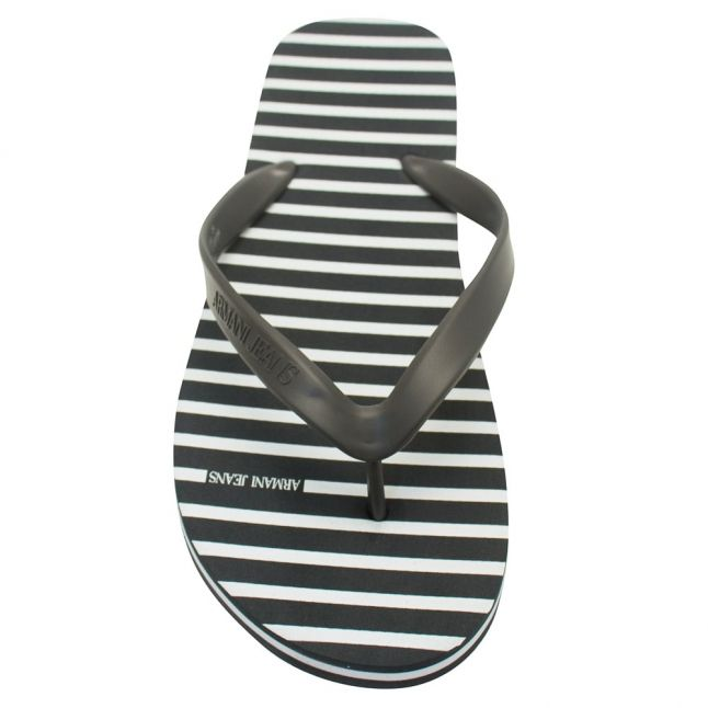 Mens Navy Stripe Flip Flops