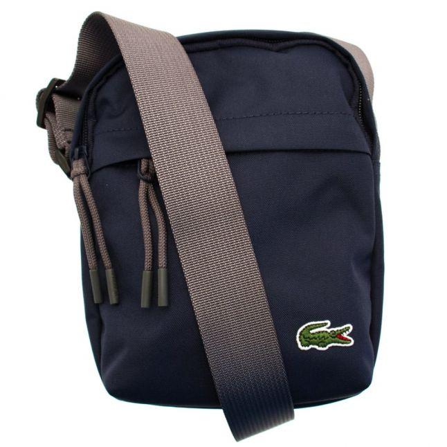 Mens Black Iris Pouch Bag