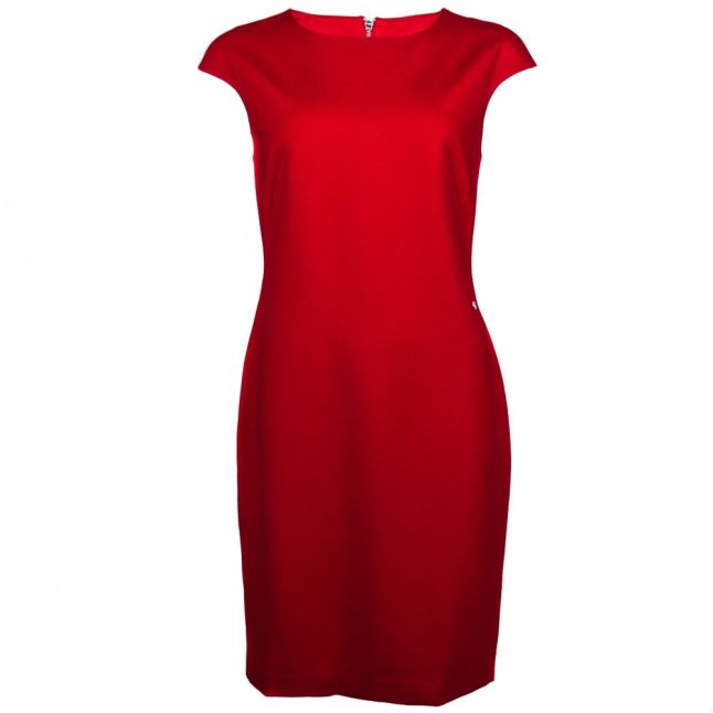 Womens Red Fitted Dress