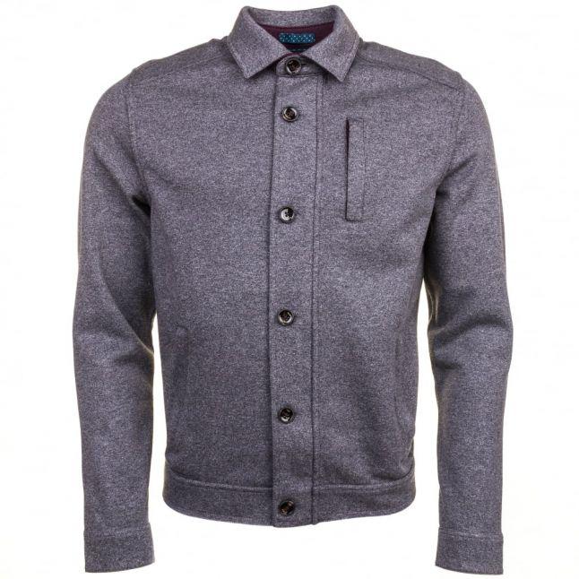 Mens Grey Marl Andino Collared Jacket