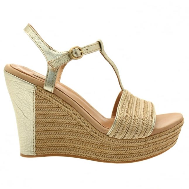 Womens Soft Gold Fitchie Metallic Wedges