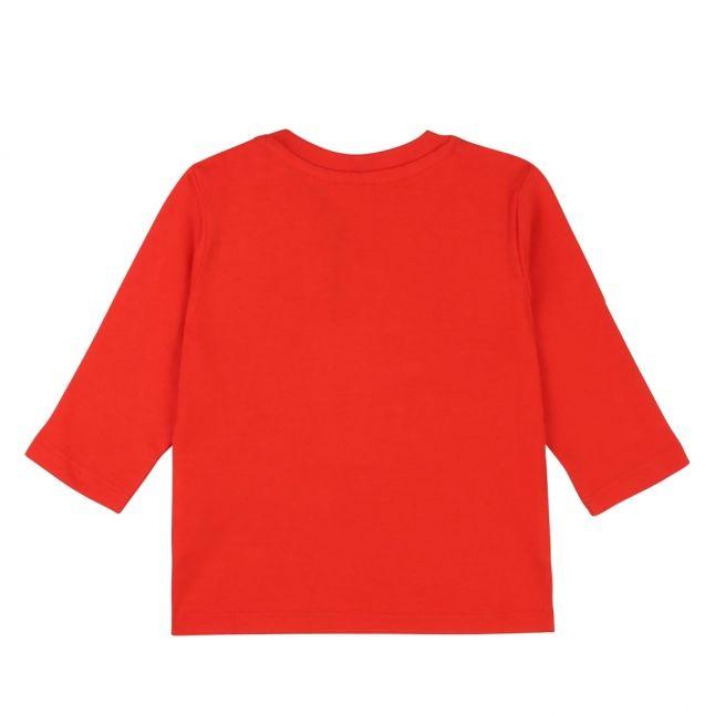Toddler Red Layered Logo L/s T Shirt