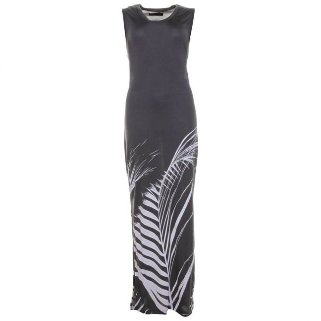 Womens Dark Grey Marl Aperture Maxi Dress