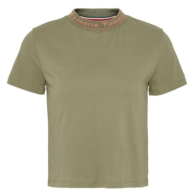 Womens Olive Tree Branded Neck S/s T Shirt