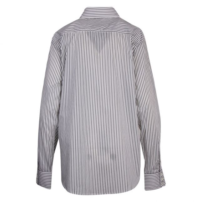 Anglomania Womens White/Navy New Lars Stripe L/s Shirt