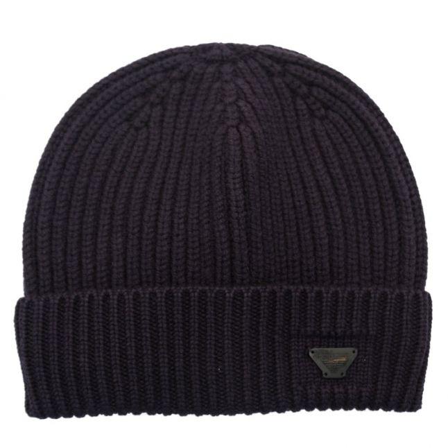 Mens Navy Beanie Hat