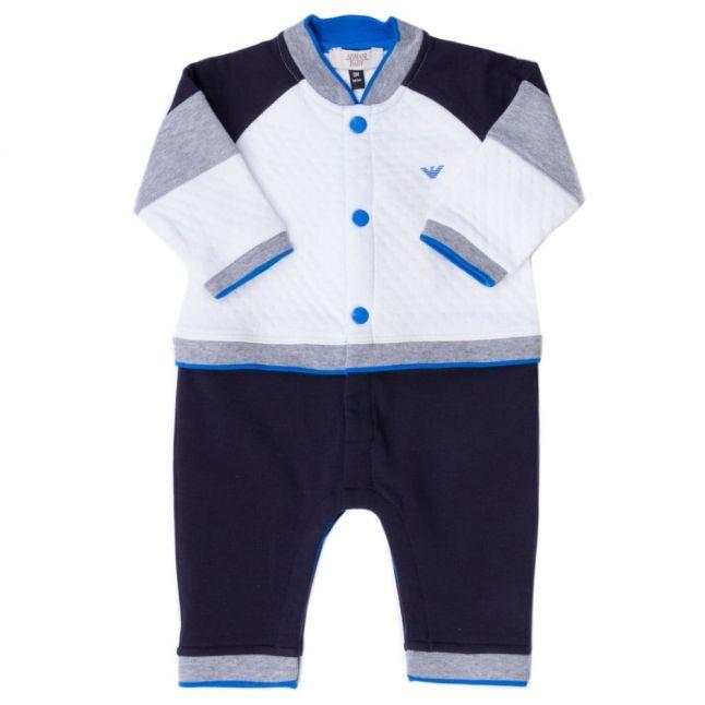 Baby White Bomber Romper Suit