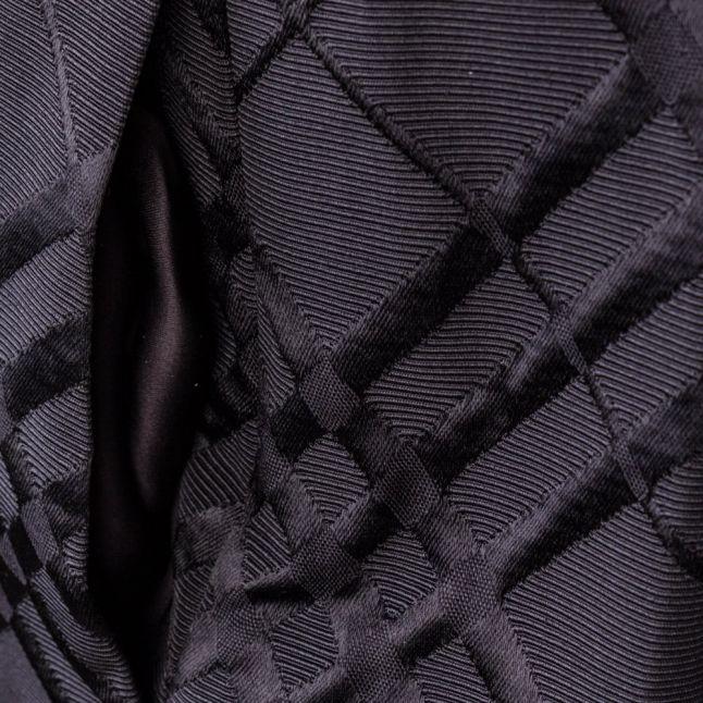 Womens Black Mansii Check Bow Detail Full Skirt