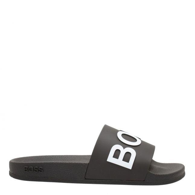 Mens Black Bay Branded Slides