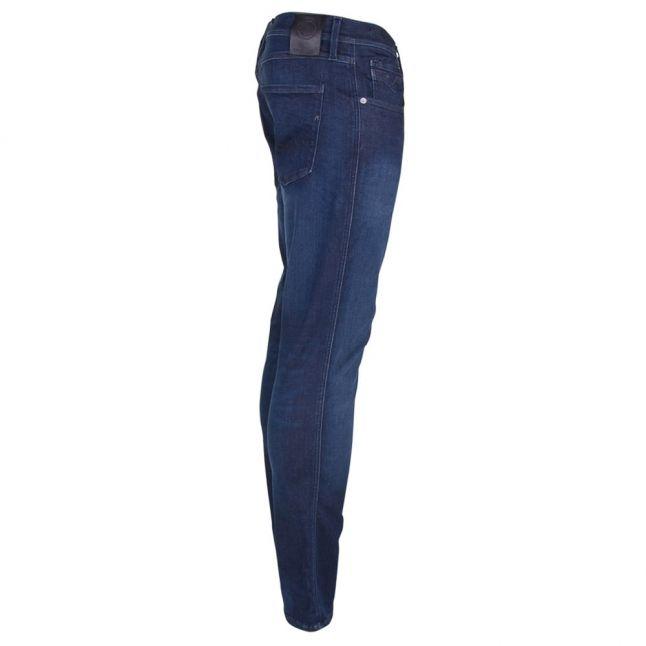 Mens Blue Anbass Hyperflex Slim Fit Jeans