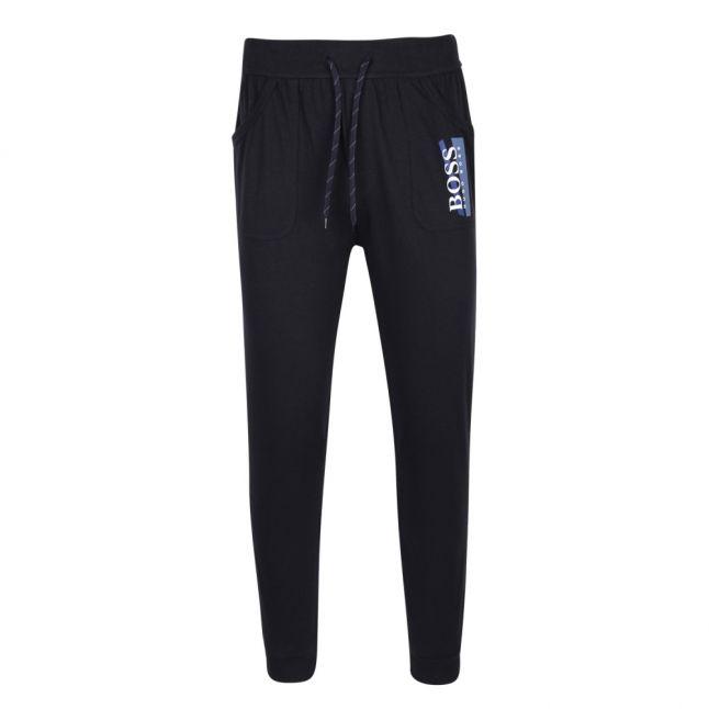 Mens Dark Blue Abstract Stripe Sweat Pants