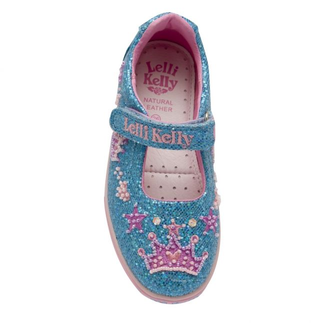 Girls Pink Tiara Dolly Shoes (25-33)