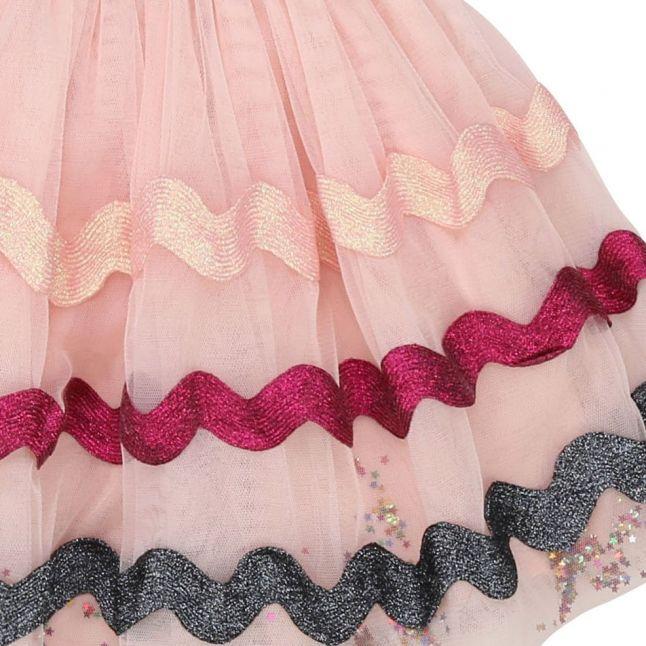 Girls Pale Pink Sparkle Petticoat Skirt