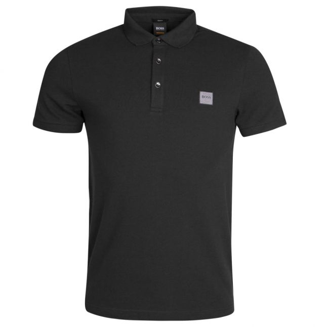 Casual Mens Black Passenger S/s Polo Shirt