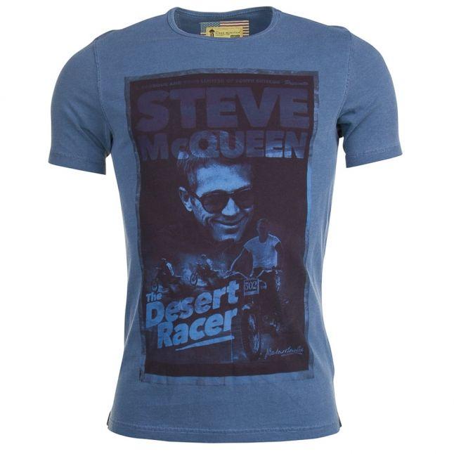 Steve McQueen™ Collection Mens Dark Chambray Desert S/s Tee Shirt