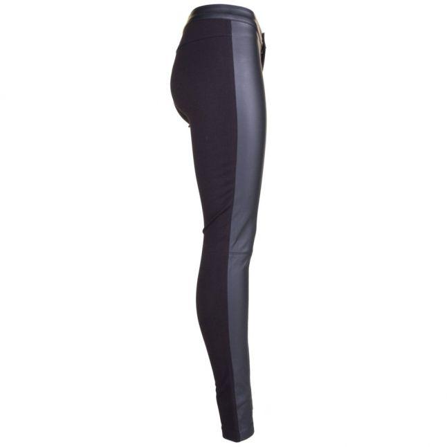Womens Black Nell PU Panel Leggings