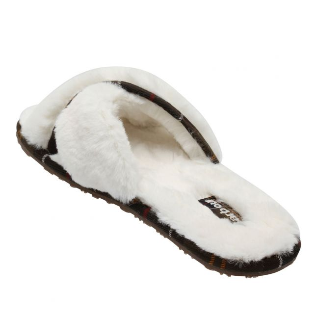 Womens Cream Lottie Crossover Slippers