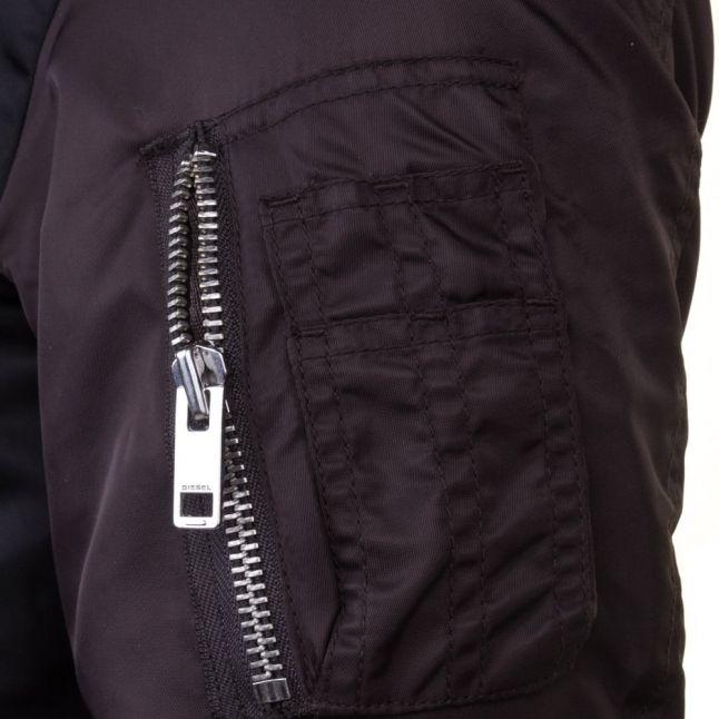 Mens Black W-To Bomber Jacket