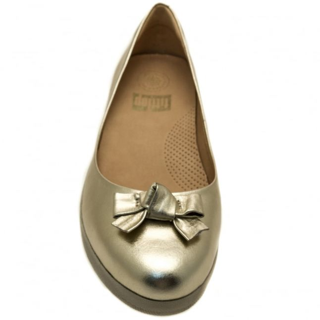 Womens Pale Gold Bow Superballerina™