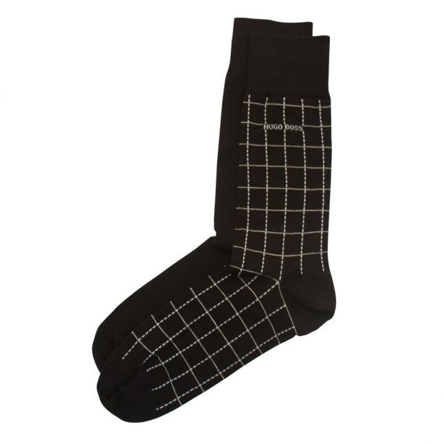 Mens Black 2 Pack RS Design Socks (5-11)