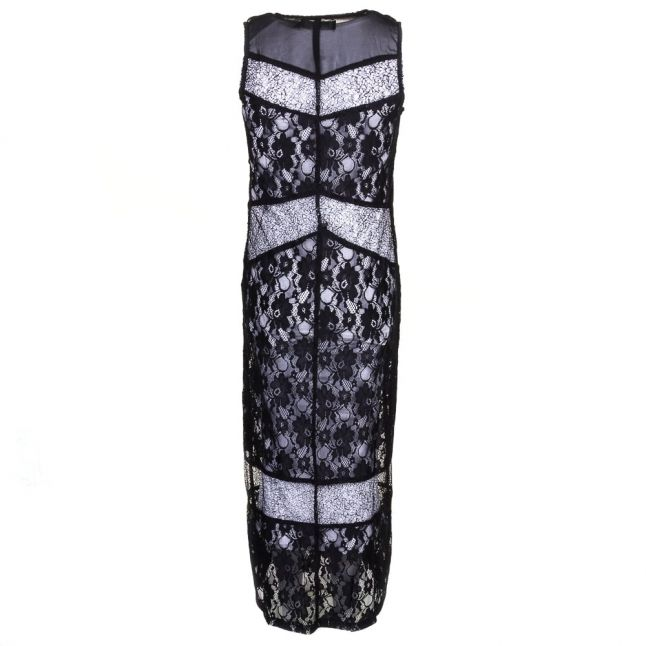 Womens Jet Black Rise Maxi Dress