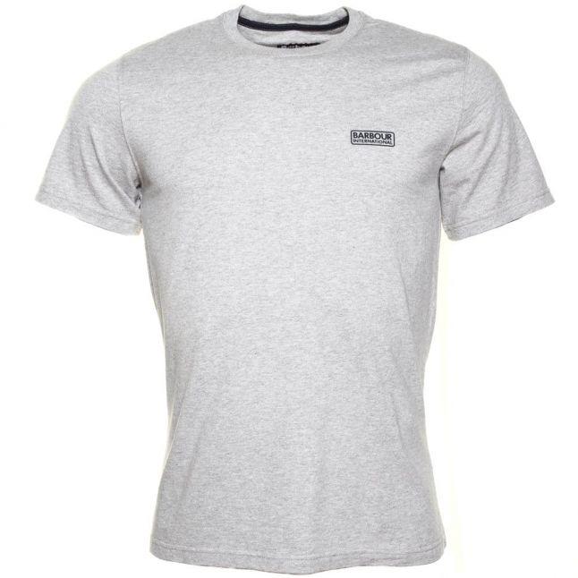 Mens Grey Marl International Small Logo S/s Tee Shirt