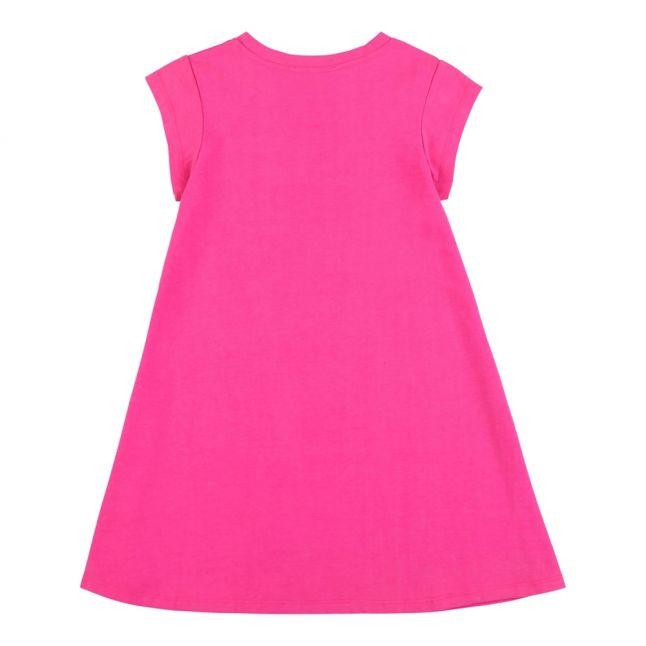 Girls Pink Logo T Shirt Dress