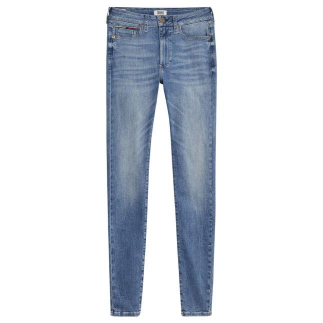 Womens Victoria Light Blue Sylvia High Rise Super Skinny Jeans