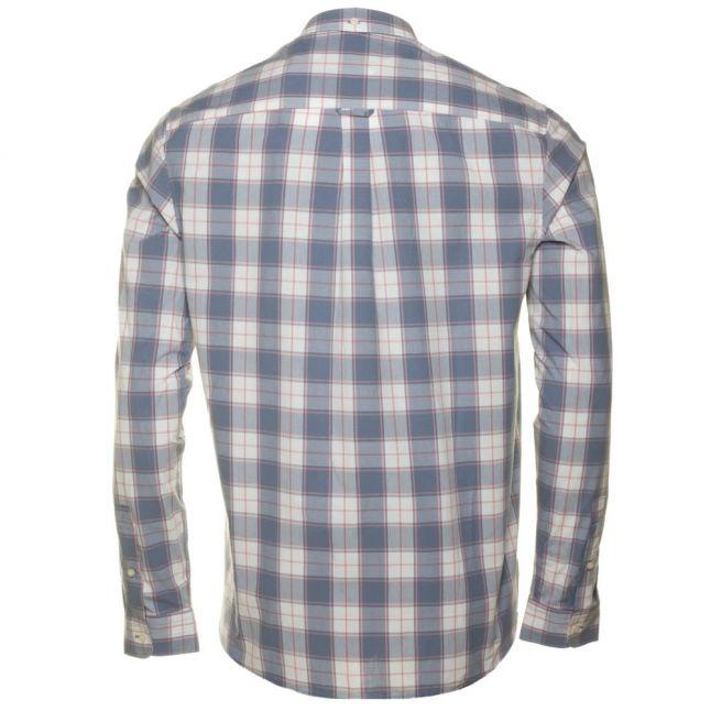Mens Dusk Blue L/s Check Shirt