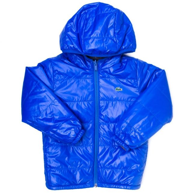 Boys Light Grey & Blue Reversible Padded Jacket