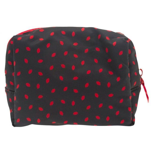 Womens Navy & Red Mini Lip Print Cosmetic bag