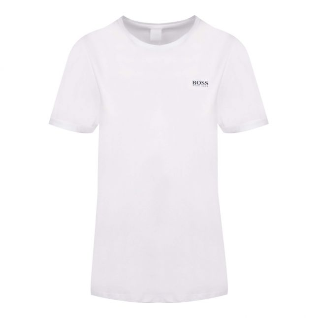 Casual Womens White Tesolid S/s T Shirt