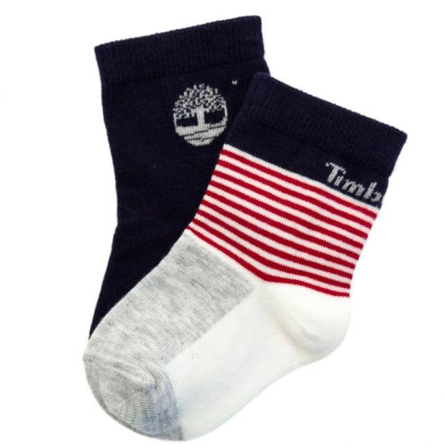 Baby Red 2 Pack Socks (17-27)