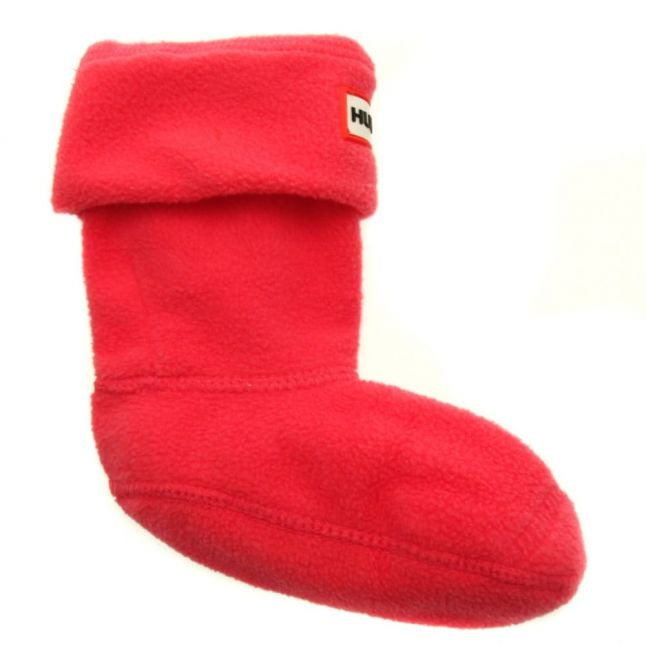 Kids Fuchsia Fleece Wellington Socks (4-6 - 3-5)