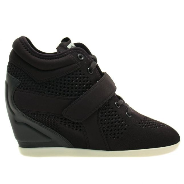 Womens Black Bebop Wedge Trainers