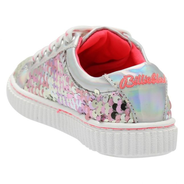 Girls Silver Sequin Trainers (27-37)